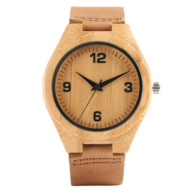 Bamboo Wristwatch Bracelet-Brown