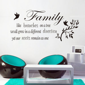 Family Like Branches Quote Wall Art
