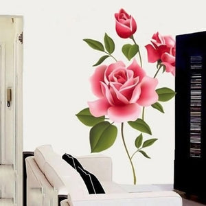 Rose Flower Wall Stickers