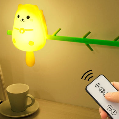 Cute Owl LED Lamp (Remote Included)