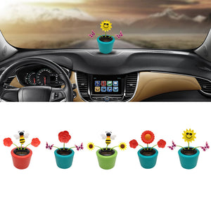 Dancing Flower Swinging Car Decor