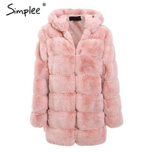 Load image into Gallery viewer, Vintage fluffy hoodie Coat 2019