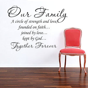 Our Family Quote Wall Sticker