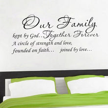 Load image into Gallery viewer, Our Family Quote Wall Sticker