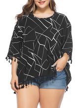 Load image into Gallery viewer, Women 3/4 Sleeve Fringe Top