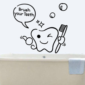 Brushing Teeth Wall Stickers Creative Art