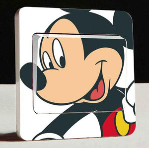 1 pcs Removable Donald Duck Wall Switch Stickers