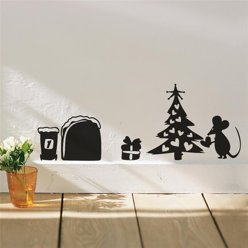 Mouse Christmas Tree Wall Stickers 2019