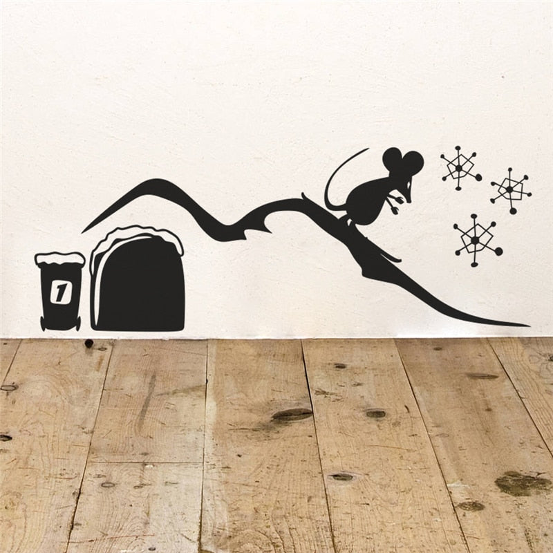 Cute Mouse Hole Decorative Wall Stickers