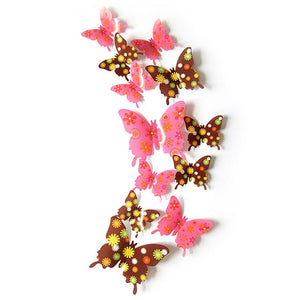 3D Butterfly Sticker DIY Decal