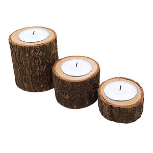 Classic Wooden Candle Holder