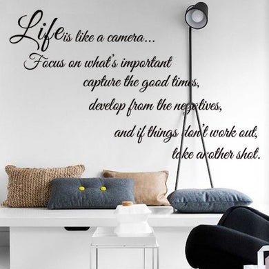 Life Quote Wall DIY Sticker
