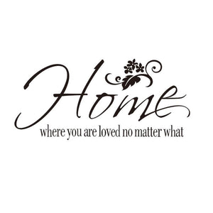 Home Flower Quote Removable Wall Sticker