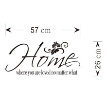 Load image into Gallery viewer, Home Flower Quote Removable Wall Sticker