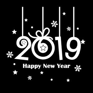 2019 Happy New Year Wall Sticker (Most Popular)