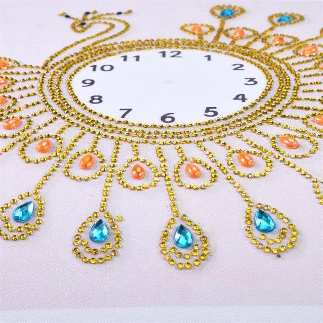 Sun Flower Peacock Wall Clock