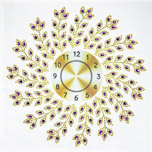 Load image into Gallery viewer, Sun Flower Peacock Wall Clock