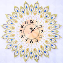 Load image into Gallery viewer, DIY Embroidery Peacock Hanging Wall Clock