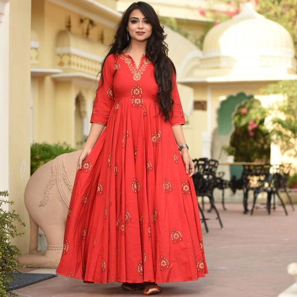 Empress Red Kurta Set