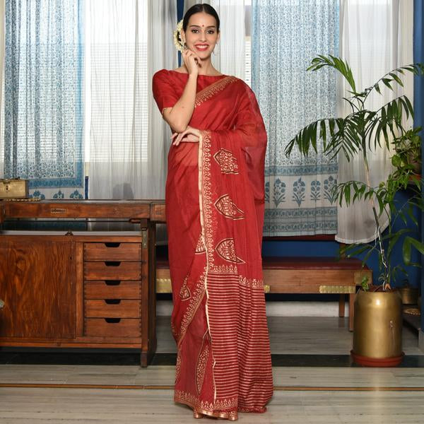 Berry Kota Silk Saree