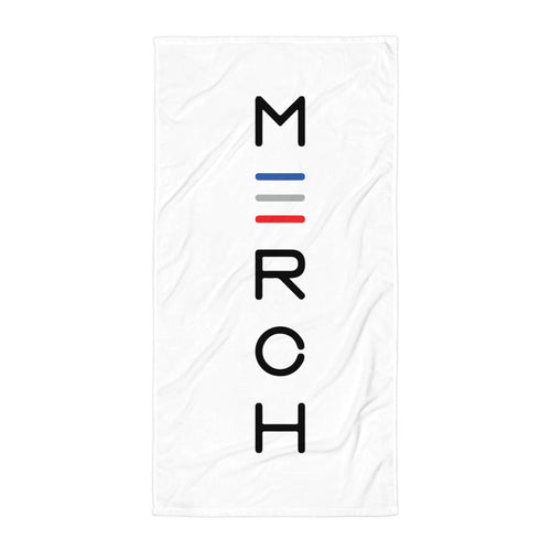 Vertical Marrow Merch Logo Beach Towel
