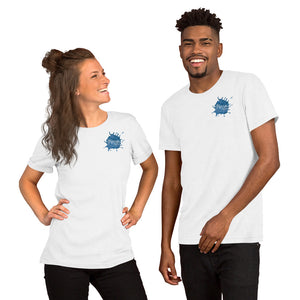 Marrow Media Blue Splash Short-Sleeve Unisex T-Shirt