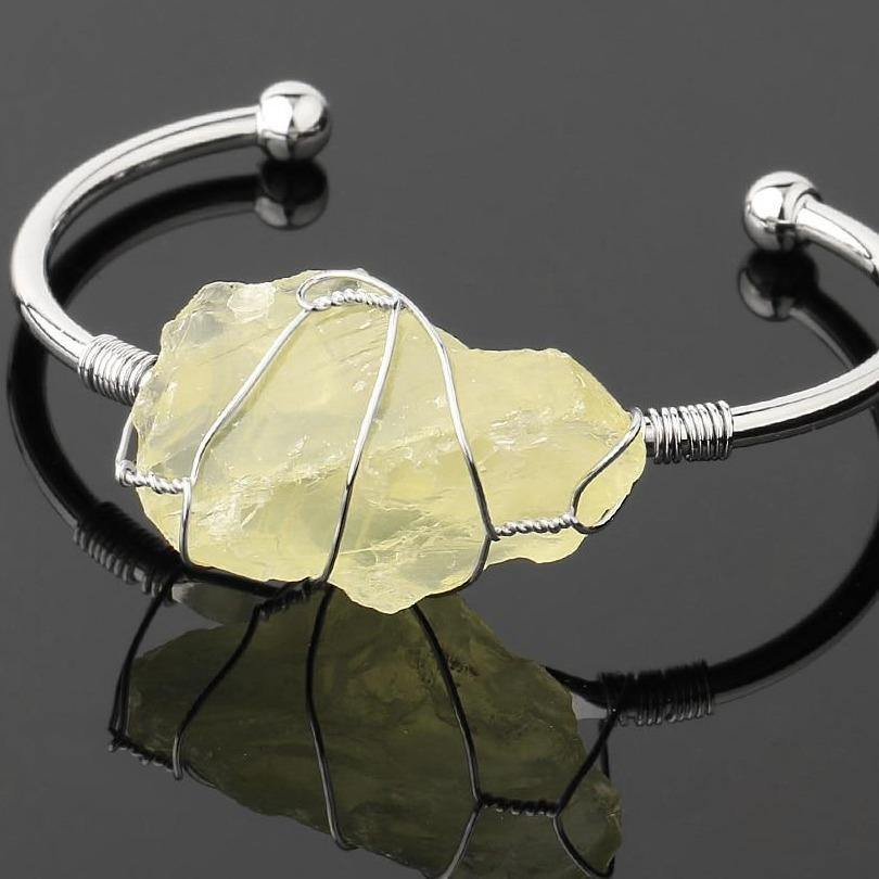 Crystal Quartz Cuff - Keyblee