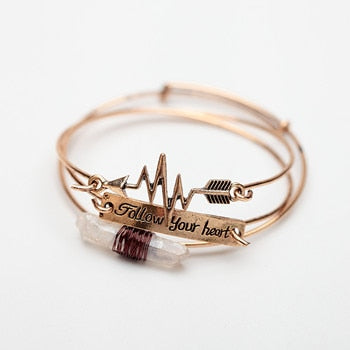 Follow Your Heart Bracelet - Keyblee
