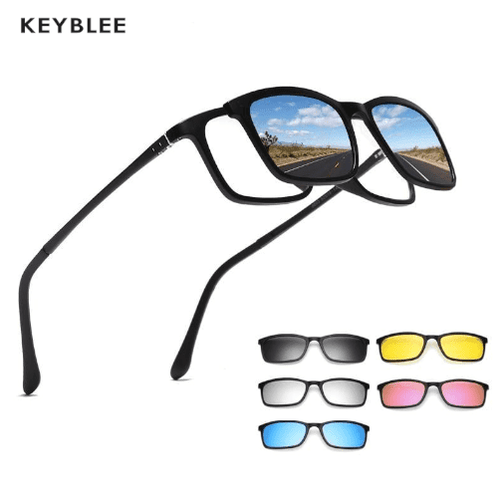 5 in 1 Magnetic Switchable Sunglasses - Keyblee