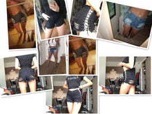 Load image into Gallery viewer, Lace Up Denim Shorts - Keyblee