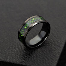 Load image into Gallery viewer, Stainless Steel Green Dragon Ring - Keyblee