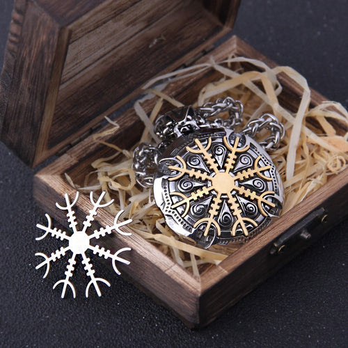 Stainless Steel Vegvisir Rune Necklace - Keyblee