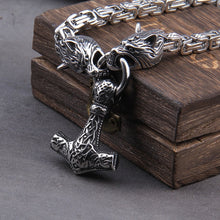 Load image into Gallery viewer, Stainless Steel Hammer With Square Chain Necklace - Keyblee