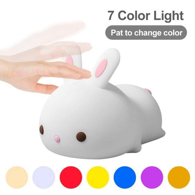 Cute Rabbit Night Light - Keyblee