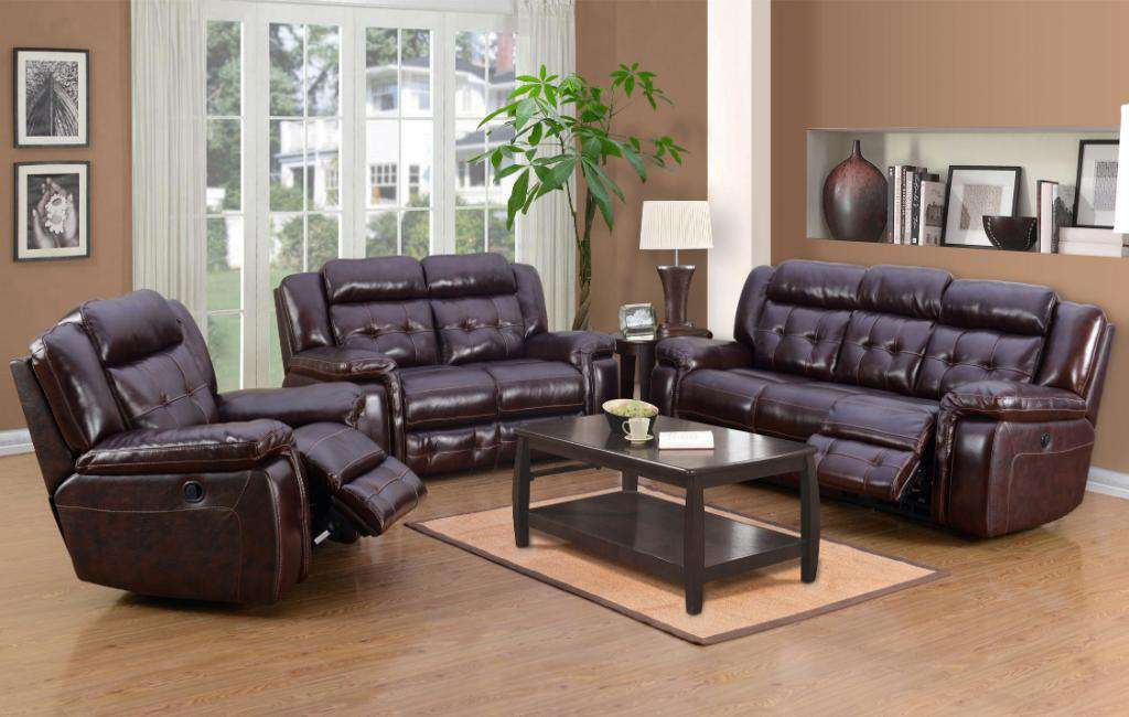 Georgetown Genuine Leather Sofa Set - Richicollection Furniture Warehouse