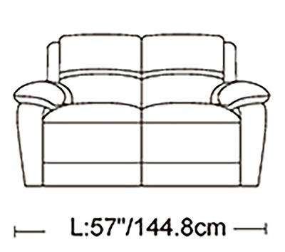 London Genuine Leather Sofa Set - Richicollection