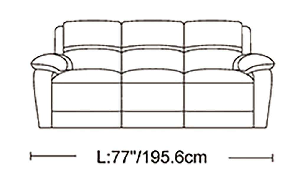 London Genuine Leather Sofa Set - Richicollection Furniture Warehouse