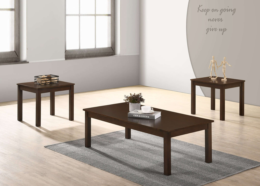 Sarah Coffee Table Set (BROWN) - Richicollection Furniture Warehouse