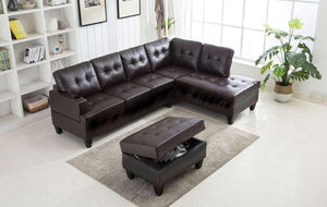 Jazz Sectional with Storage Ottoman - Richicollection