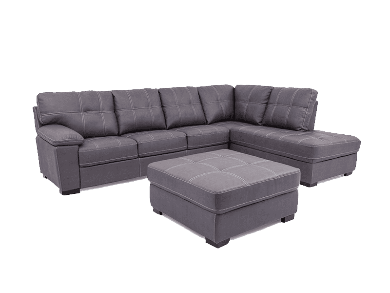 Brampton Sectional with Ottoman - Richicollection Furniture Warehouse
