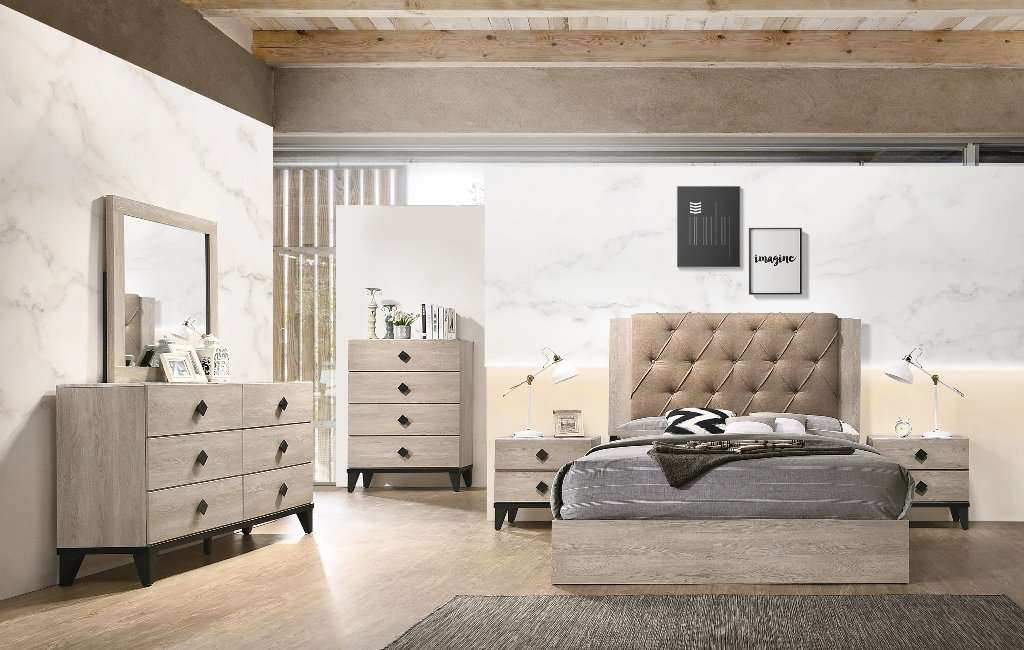 Jackie Marble Bedroom Set - Richicollection Furniture Warehouse