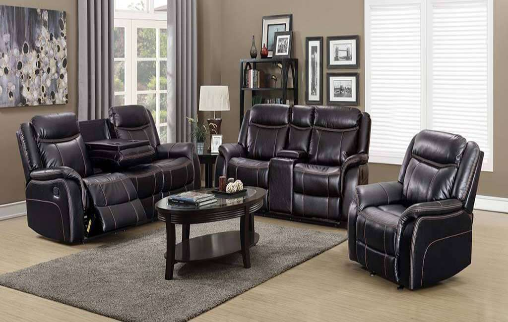 Lisa Leather Sofa Set - Richicollection Furniture Warehouse