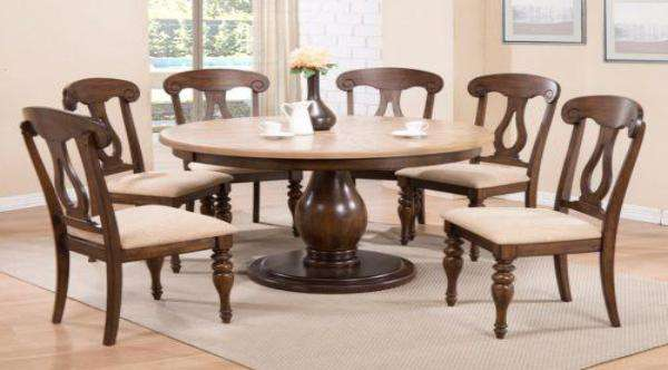 Mesquite Dining Table Set - Richicollection Furniture Warehouse