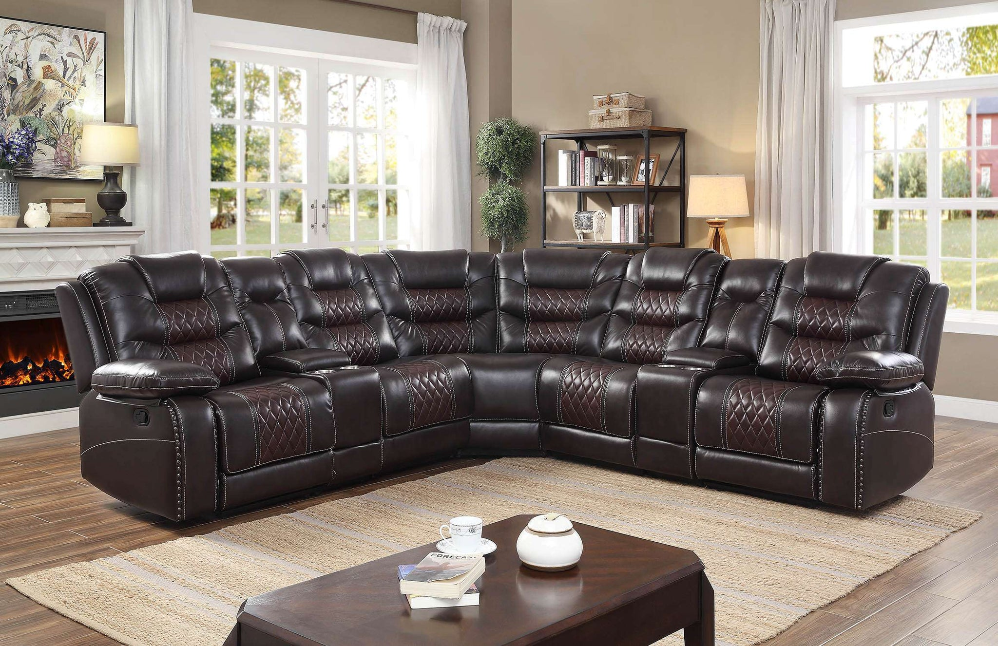 Venetian Reclining Sectional - Richicollection Furniture Warehouse
