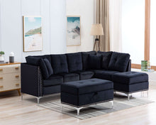 Load image into Gallery viewer, Jessica Fabric Sectional + Ottoman - Richicollection Furniture Warehouse