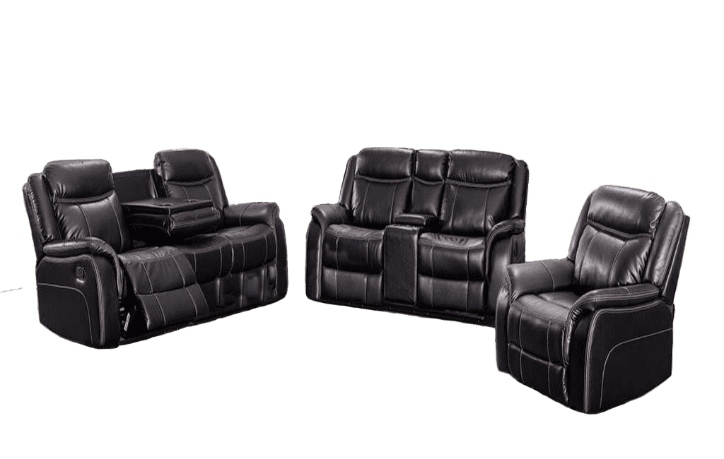 Lisa Leather Sofa Set - Richicollection