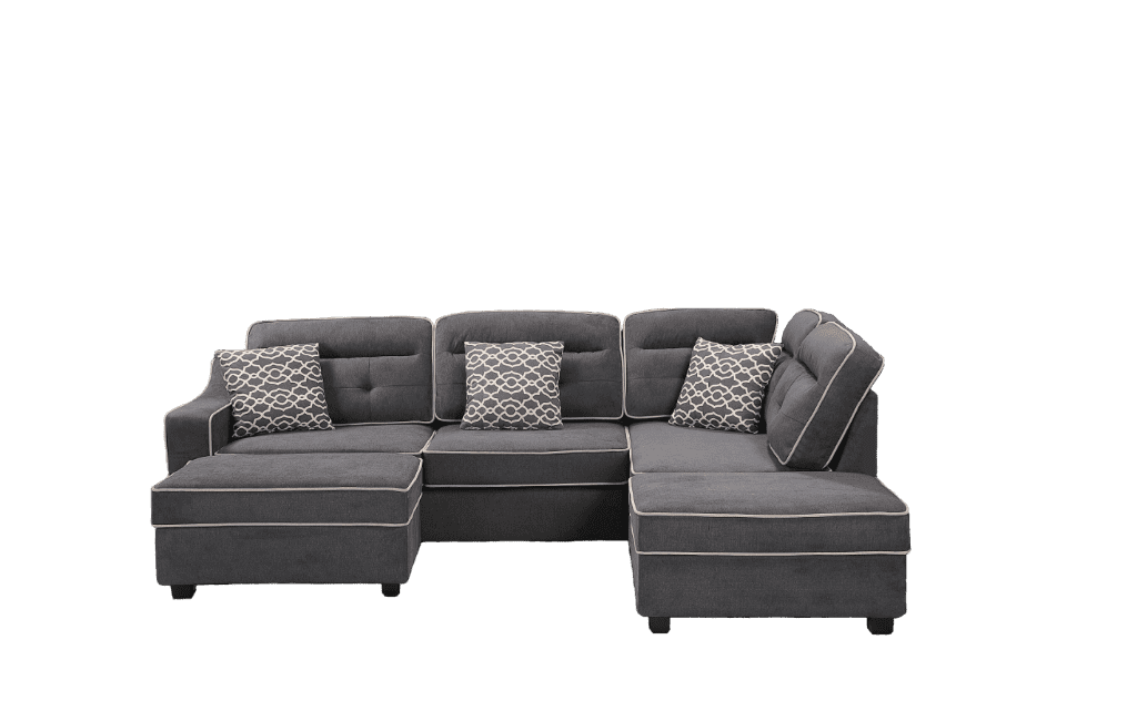 Cory Sectional with Storage Ottomans - Richicollection Furniture Warehouse