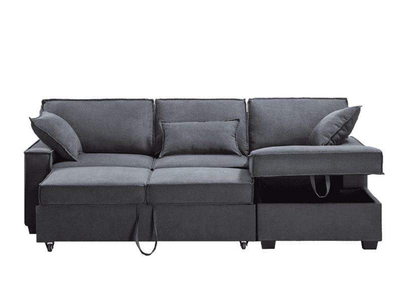 Scott Sofa Bed with Storage Chaise - Richicollection Furniture Warehouse