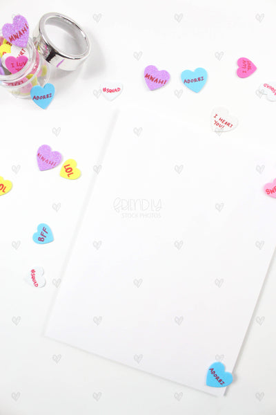 Conversation Hearts Product Mockups {12 Photos}