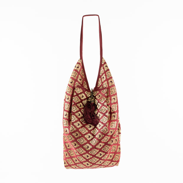 Bright Red Gold | Jhola Bag